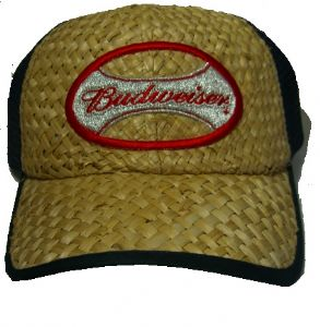 Officially Licensed Budweiser Baseball Basketweave Effect Cap